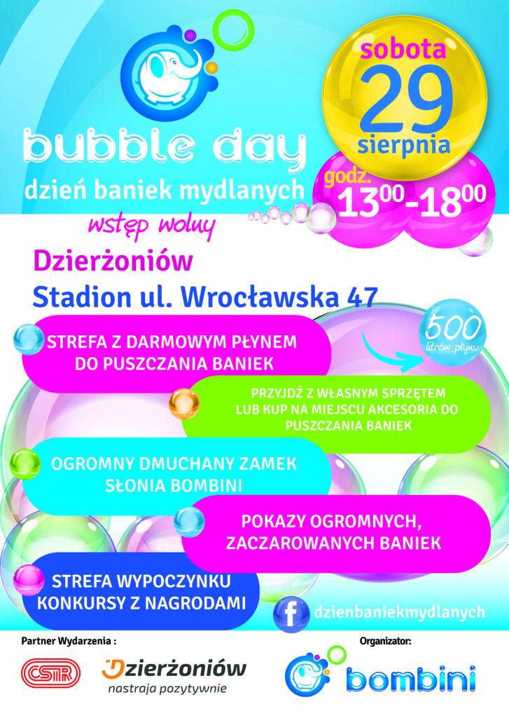 Plakat Bubble Day - Dzień Baniek Mydlanych