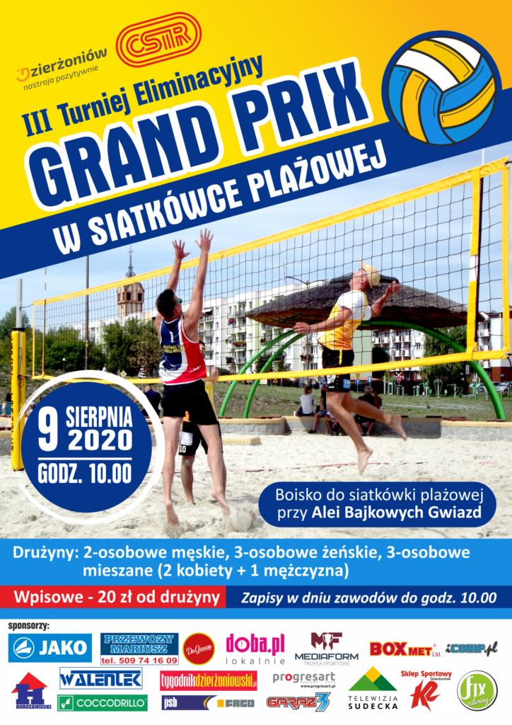 Plakat III Turniej Eliminacyjny Grand Prix w Siatkówce Plażowej